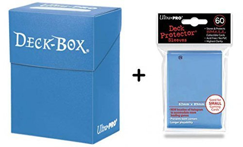 Ultra Pro Deck Box + 60 Small Size Protector Sleeves - Hellblau - Light blue - Yu-Gi-Oh! - Japanese Mini Deck Box Yugioh