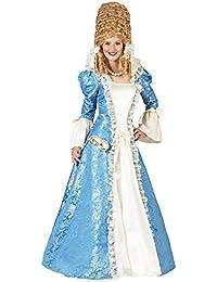 Barock Kostüm Johanna für Damen - Lang - Rokoko Prinzessin Gräfin Theater Kostümkleid in Blau