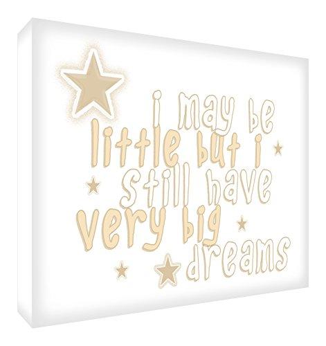 Feel Good Art May All Your Dreams Come True Blocs Acryliques Décor Symbolique Beige 14,8 x 10,5 x 2 cm