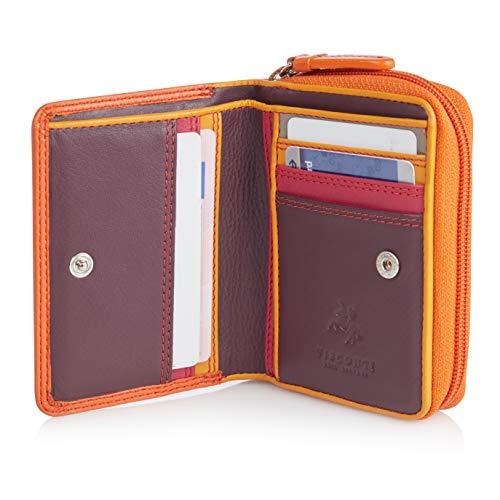 Visconti Twofold Leder Damen Geldbörse Rainbow Multicolor/Mehrfarbig Small Purse(RB53): (Orange Multi) Orange Multi Leder
