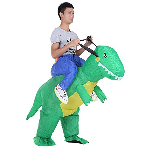 (Anself Aufblasbares Kostüm Carry-me Huckepack Dinosaurier Cosplay für Fasching Erwachsene / Kinder Optional)