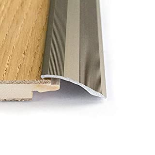 Self Adhesive Aluminium Door bar Threshold Brushed Steel Adjustable ramp 0.9m
