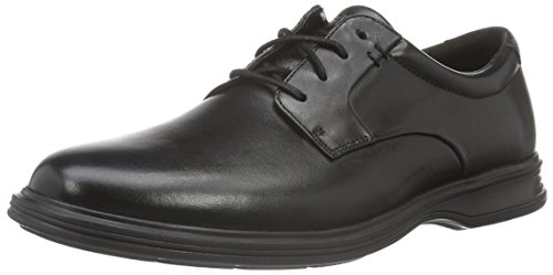 RockportDressports 2 Lite Plaintoe - Scarpe Basse Stringate uomo , Nero (Nero (Black Leather)), 43