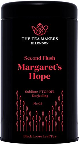 The Tea Makers of London Margaret's Hope Second Flush FTGFOP1 Darjeeling Black Tea Caddy 125 g