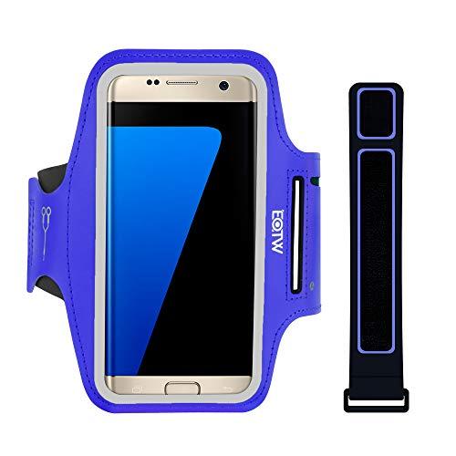 EOTW Sportarmband Handyhülle universell Passend für Samsung Galaxy S7/S6/S5, Ideal für Sport, Freizeit Aber Auch in der Arbeit praktisch zu Verwenden (5,1 Zoll, Blau)