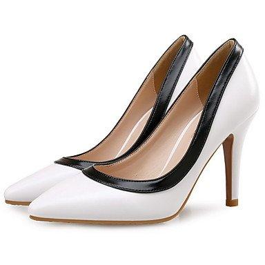 Moda Donna Sandali Sexy donna tacchi Primavera / Autunno / Inverno Comfort matrimonio cuoio / Party & sera abito / Stiletto Heel Split Joint nero / bianco / Mandorla Black