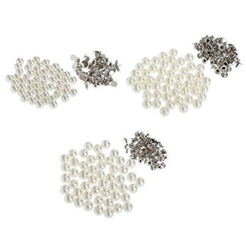 Sharplace 150 Stück Perlen Nieten Knöpfe Schmucknieten Zum Nähen Bssteln Lederhandwerk 10mm 8mm 6mm Kegel-perlen
