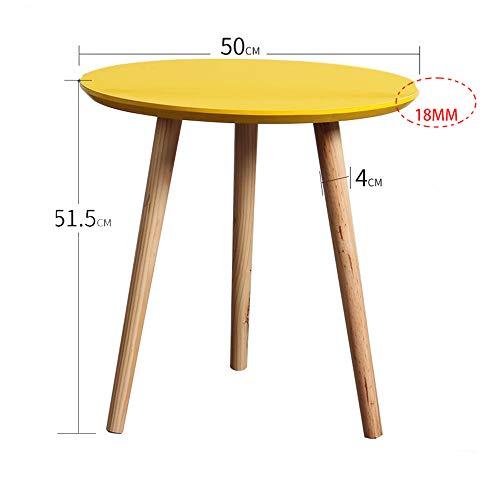 Zhuozi FUFU Wandhalterung Kaffee-Endtisch-moderner Dekor-Beistelltisch für Haupt- und Büro-Gelb Drop-Blatt-Tabelle