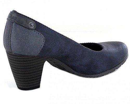 s.Oliver 22404, Scarpe con Tacco Donna Blu (Blue)