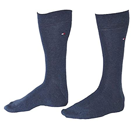 2 pairs TOMMY HILFIGER Men's Classic Socks Gr. 39 - 49 Business sneaker socks, Farbe:356 - jeans;Größe Bekleidung:L
