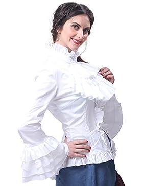 Nuoqi® Donne nero a maniche lunghe Abiti Gothic Lolita Dress