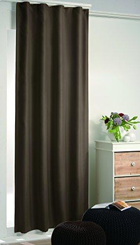 Moderne doux verdunkelungsgardine faisant double rideau thermique-rideaux brun sHADE \