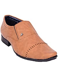 Eaguar Synthetic Brown Slip On Causal Shoes For Men