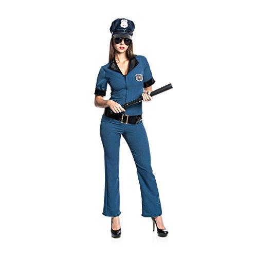 Kostümplanet® Polizei-Kostüm Damen Polizistin Catsuit sexy Police Faschingskostüm Größe (Für Officer Polizei Damen Kostüm)