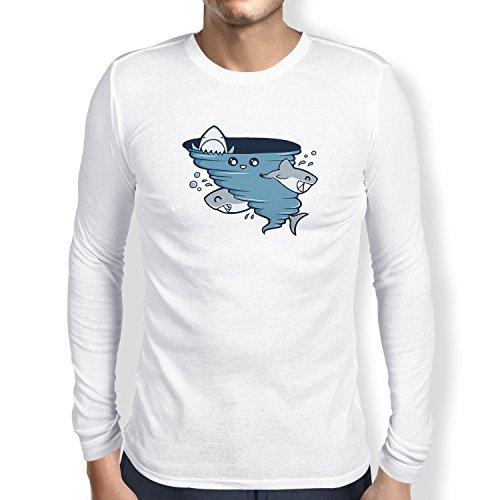 Texlab Cute Shark Tornado - Langarm T-Shirt, Herren, Größe XXL, ()