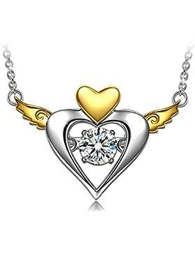 Dancing Heart Freies Herz Damen-Kette Silber 925