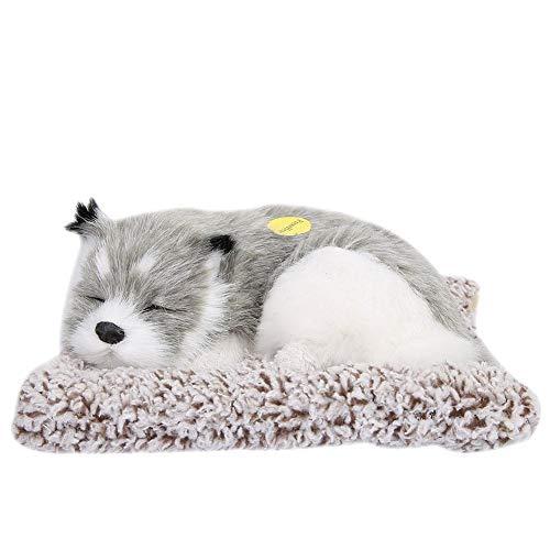 Plush Toy, Plush Dog for Sleeping Plush Doll Type Plush Suitable for Unlimited Yellow Gray White Black + White(Gray)