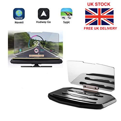 Laguna Universal HUD GPS Navigation Heads Up Display Anti Slip Car Mobile  Phone Holder