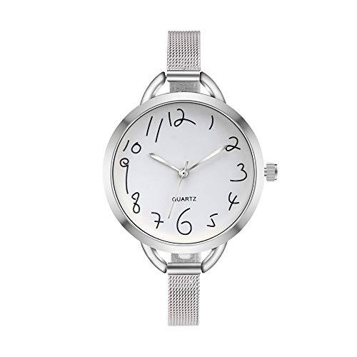 Uhren Silber Frauen Beiläufiges Kristalledelstahl-Analoges Zeiger-Quarz-Armbanduhr-Kleid Einfaches Reloj Mujer Montre Femme