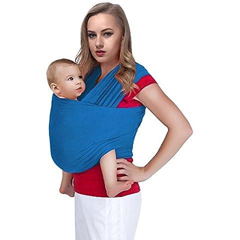 Fascia portabebé, colore nero, porta bebè, fascia unisex, taglia unica,