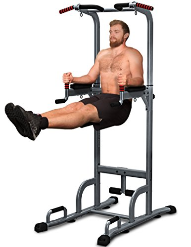 Sportstech Chaise Romaine 7 en 1 PT300 Power Tower Tour de Musculation Multifonctions Barre de...