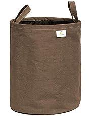 HomeStrap Cotton Foldable Laundry Bag – Brown, 43 LTR