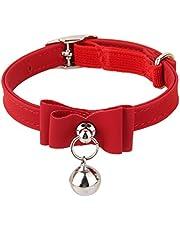 Generic Adjustable Bell Buckle Velvet Neck Strap For Kitten Cat Puppy - Red