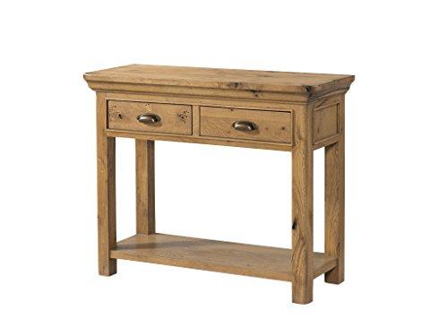 The One French Le Charme großer Hall Tisch Eiche/Eiche 2Schubladen Konsole Tisch mit 6403-Finish: Distressed Französische Eiche, Flur, Esszimmer-Wohnzimmer Möbel - 2 Schubladen Holz-finish Tisch