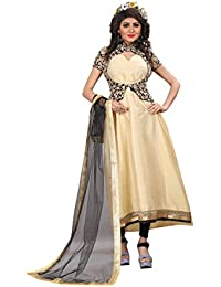 Insight Ecommerce Women's Cotton Silk Salwar Suit Sets (GOWN A112QXC_Beige_Free Size)