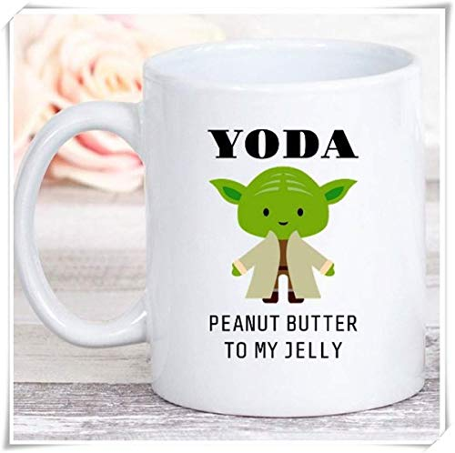 LUOBOGAN New - Yoda Peanut Butter to My Jelly Best Friend Birthday Gift, 11oz Ceramic Coffee Mug, Unique Gift -