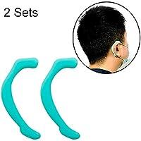 Tuzi Qiuge Gancho oído de Las Orejeras Invisible 2 Juegos Máscara Facial Reutilizable de Silicona Suave (Color : Green)