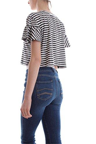 ONLY 15138463 SHINE TOP Damen White Black
