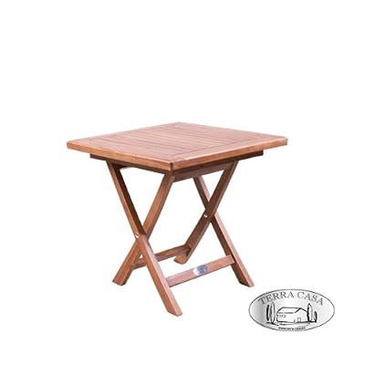 Beistelltisch TAMAN Klapptisch eckig 45 cm Teak Tisch Teakholz Hocker Gartenmöbel Premiumqualität