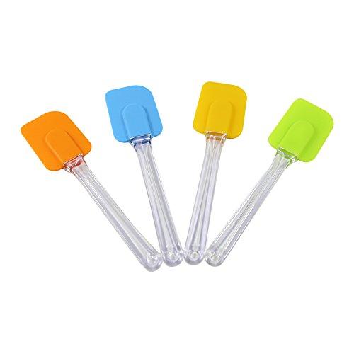 T-MEKA spatule en silicone - spatule en silicone cuisine cuillere gateau ustensile de cuisson melangeur cuisson Mixer grattoir (Couleur Aléatoire)