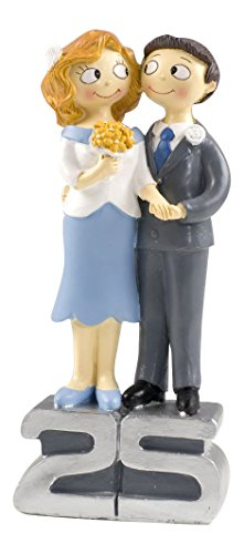Mopec Y250 - Cake pie grooms for 25 anniversary pop & fun wedding, 21,5 cm