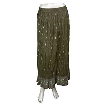 Informelle Damebekleidung,langer Rock aus Indien (M/36)