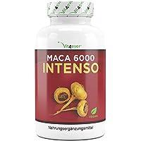 Maca 6000 Intenso - 6000 mg Maca Wurzel pro Kapsel aus 10:1 Extrakt - 130 Kapseln - 100% Maca Wurzel Extrakt - Vegan - Hochdosiert - Premium Qualität - Vit4ever