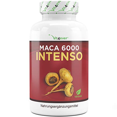 Vit4ever® Maca 6000 Intenso - 6000 mg Maca Wurzel pro Kapsel aus 10:1 Extrakt - 130 Kapseln - Laborgeprüft - Vegan - Hochdosiert - Premium Qualität