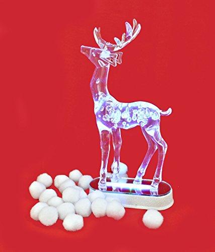 * Weihnachtsdeko Winterdeko LED Dekolicht Hirsch mit Farbwechsel 28 x 14 cm aus Acrylglas