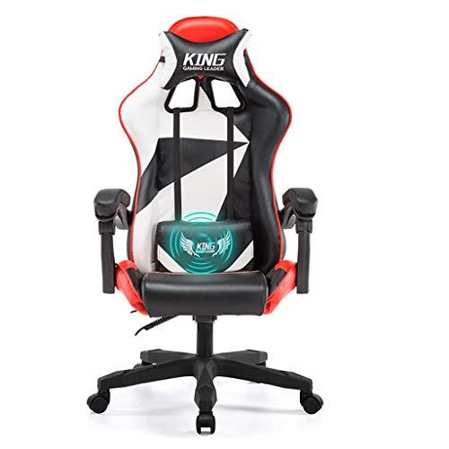 Mingteng Computer Gaming Chair - Sedia Girevole per Videogiochi Girevole con Schienale Alto in Pelle PU con poggiatesta e Supporto Lombare con Funzione massaggiante (Color : 5)