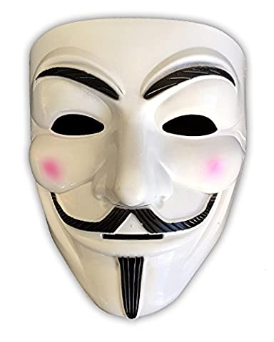 Guy Fawkes Maske | V wie Vendetta | Anonymous | Cosplay | Halloween (Anonymous Hacker Kostüm)