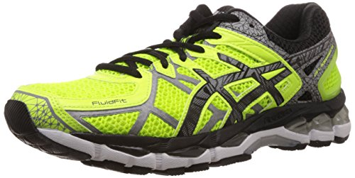 ASICS Men's Gel-Kayano 21 Lite-Show Safety Yellow, Lite and Black Mesh Running Shoes - 7 UK  available at amazon for Rs.7699