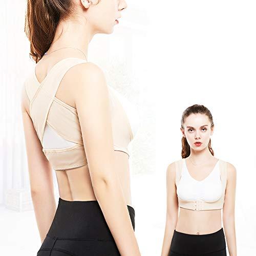 SDFHTY Damen-BH-Unterwäsche - Rückenglätter - Erweitert die Schulter um die falsche Haltung zu verbessern - Stereo-U-Form - kein Stahlring,Skintone,L