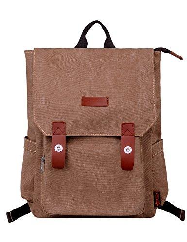 Imagen de douguyan lona  bolsa para mujer  hombre macbook computadora de escuela viaje 120 marrón