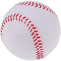 B Baosity Ejercicio y Entrenamiento de Práctica de Bateo de 9 Pulgadas Softball de Béisbol Niños Juguetes de Seguridad para Niños - Blanco