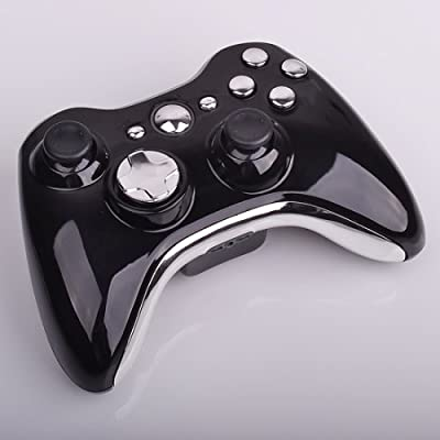 Xbox 360 Wireless Controller - Polished Piano Black with Chrome Buttons