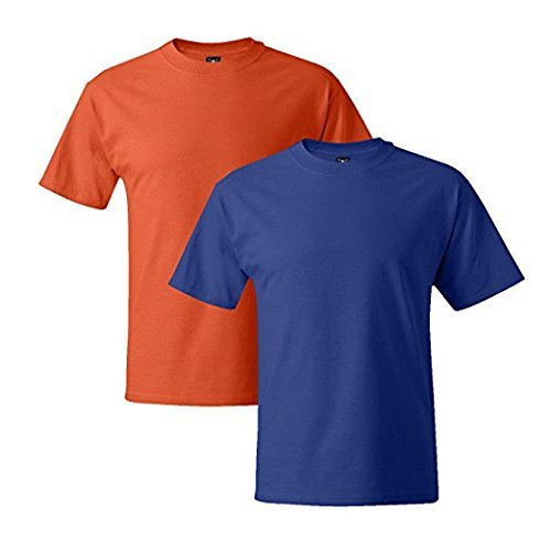 1 Deep Orange T Deep Mens 1 1 Hanes Orange Short Sleeve Royal 1 5180 Beefy Royal fBAUR6q