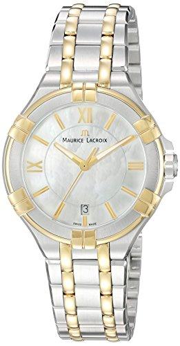 Maurice Lacroix Damen Analog Quarz Uhr mit Edelstahl Armband AI1006-PVY13-160-1