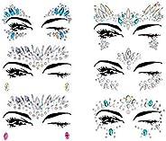 Mermaid Face Gems Glitter Sticker Rhinestone Bindis Crystal Face Jewels Tattoo Forehead Decorations for Women