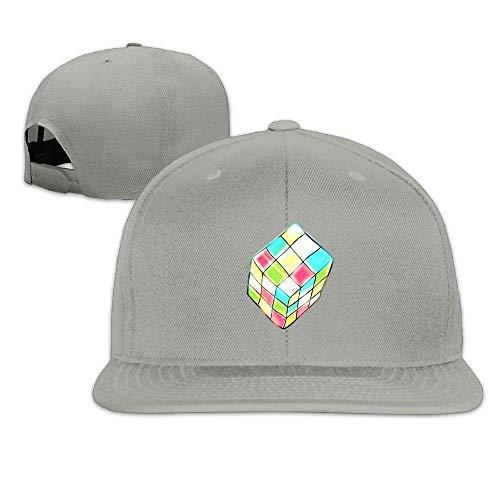Rubik Cube Icon Hip Hop Baseball Cap Adjustable Flat Brim Hat Outdr Sport Baseball Hat ()